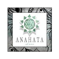 Chakras Yoga Framed Anahata V3 Fine Art Print