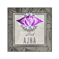 Chakras Yoga Tile AJNA V3 Fine Art Print