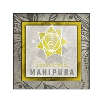 Chakras Yoga Tile Manipura V1 Fine Art Print