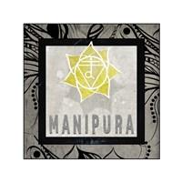 Chakras Yoga Tile Manipura V2 Fine Art Print