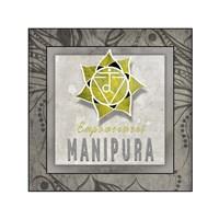 Chakras Yoga Tile Manipura V3 Fine Art Print