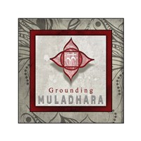 Chakras Yoga Tile Muladhara V1 Fine Art Print
