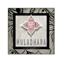 Chakras Yoga Tile Muladhara V2 Fine Art Print