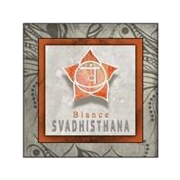 Chakras Yoga Tile Svadhisthana V1 Fine Art Print