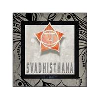 Chakras Yoga Tile Svadhisthana V2 Fine Art Print