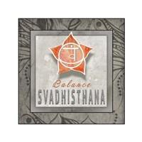 Chakras Yoga Tile Svadhisthana V3 Fine Art Print