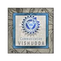 Chakras Yoga Tile Vishudda V1 Fine Art Print