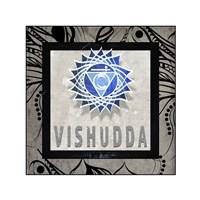 Chakras Yoga Tile Vishudda V2 Fine Art Print