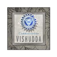 Chakras Yoga Tile Vishudda V3 Fine Art Print