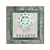 Chakras Yoga Tile Anahata V1 Fine Art Print