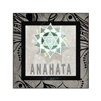 Chakras Yoga Tile Anahata V2 Fine Art Print