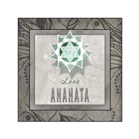 Chakras Yoga Tile Anahata V3 Fine Art Print