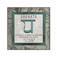 Chakras Yoga Tile Anahata V4 Fine Art Print