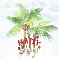 Xmas Palm Trees Fine Art Print