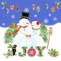 Xmas Snowman Fine Art Print