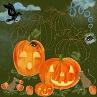 Halloween Jack-O'-Lanterns Fine Art Print