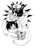Nautical Cats Fine Art Print