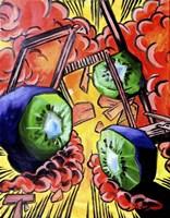 Kiwis In Action! Fine Art Print