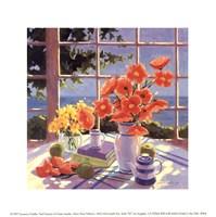 Red Poppies & Green Apples Fine Art Print