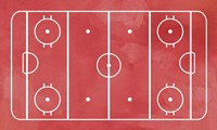 Ice Hockey Rink Red Paint Fine Art Print