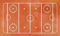 Ice Hockey Rink Orange Paint Fine Art Print