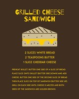 Grilled Cheese Sandwich Recipe Brown Fine Art Print