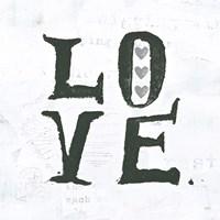 Love Gray Hearts Fine Art Print