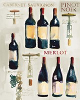 Red Wine Collage on White Fine Art Print