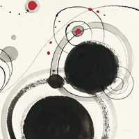 Planetary III with Red Framed Print