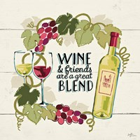 Wine and Friends V Fine Art Print