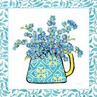 Floral Teacup IV Vine Border Framed Print