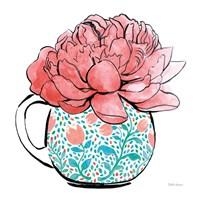 Floral Teacups I Fine Art Print
