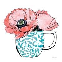 Floral Teacups II Fine Art Print