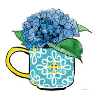 Floral Teacups III Framed Print