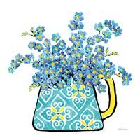 Floral Teacups IV Framed Print
