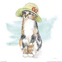 Fancy Cats III Watercolor Fine Art Print