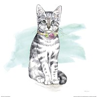 Fancy Cats I Watercolor Fine Art Print