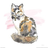 Fancy Cats II Watercolor Fine Art Print