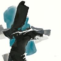 Black and Teal IV Fine Art Print