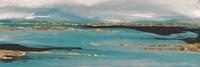 Gilded Storm II Teal Grey Crop Fine Art Print