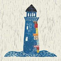 Nautical Collage II on Linen Fine Art Print