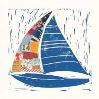 Nautical Collage IV Framed Print