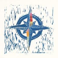 Nautical Collage I Framed Print