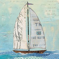 At the Regatta III Sail Sq Fine Art Print