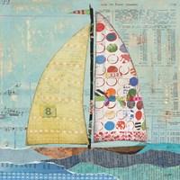 At the Regatta I Sail Sq Fine Art Print