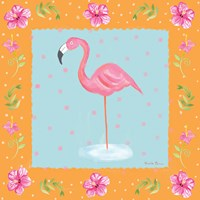Flamingo Dance IV Fine Art Print