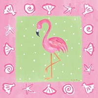 Flamingo Dance II Fine Art Print
