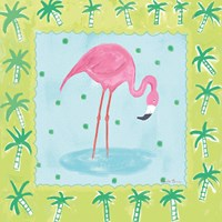Flamingo Dance III v2 Fine Art Print