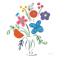 Floral Medley IV Framed Print