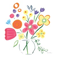 Floral Medley III Framed Print